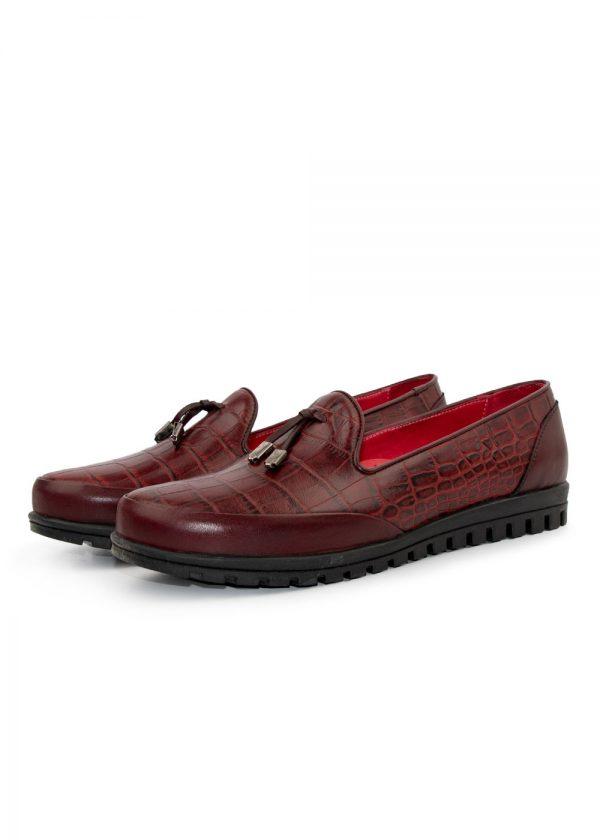 کفش مدل 200009 چرم کروکو