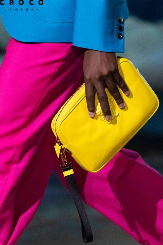 کیف زرد زنانه