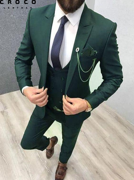 کت شلوار سبز