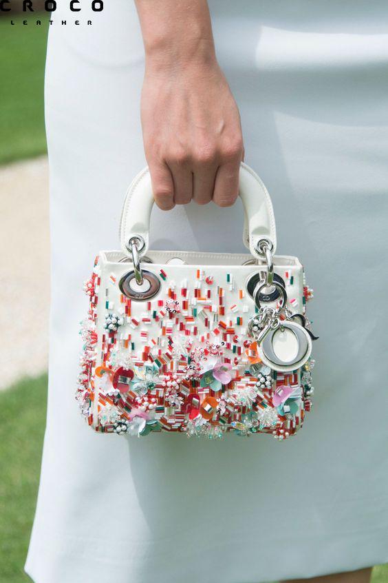 کیف دستی سفید فانتزی