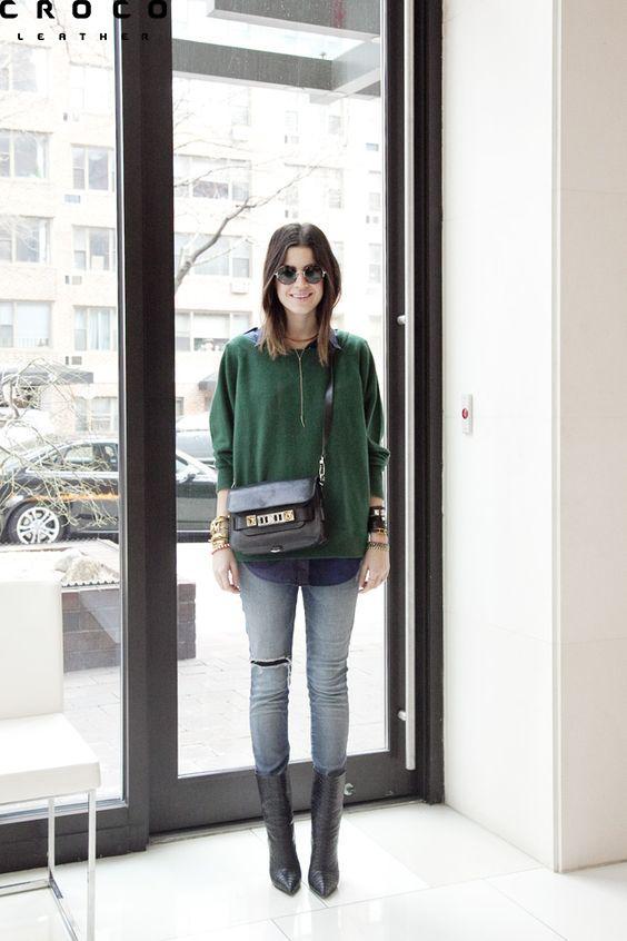 ژاکت رنگ سبز